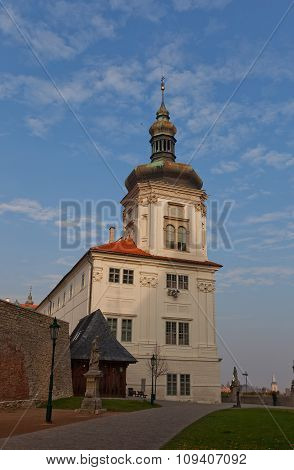 Tower Of Jusuit College (1667) In Kutna Hora. Unesco Site