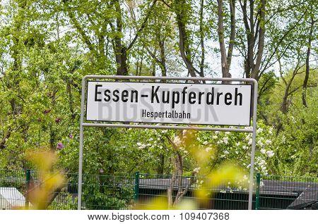 Kupferdreh Train Station, Germay