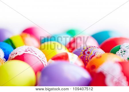 Close-up of beautiful Easter eggs