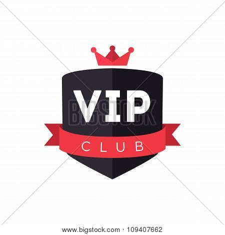 Vip club logo sign vector