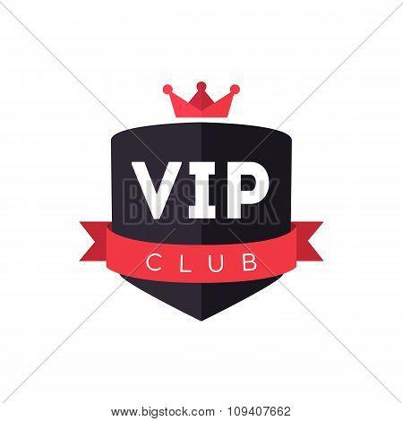 Vip club logo sign vector