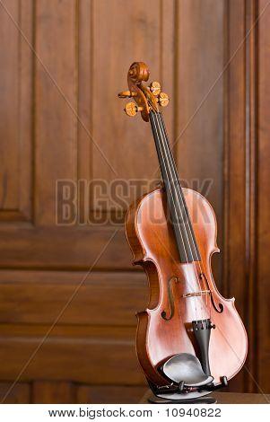 Violin with Wooden Door