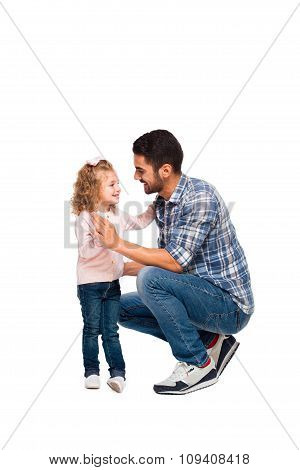 Young Father With His Daughter