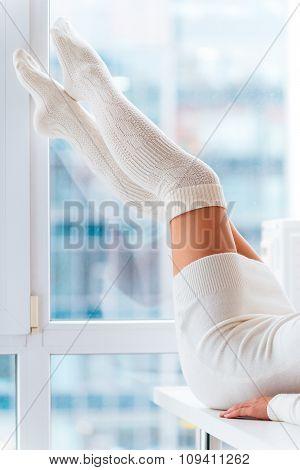 Beauty In Warm Socks.