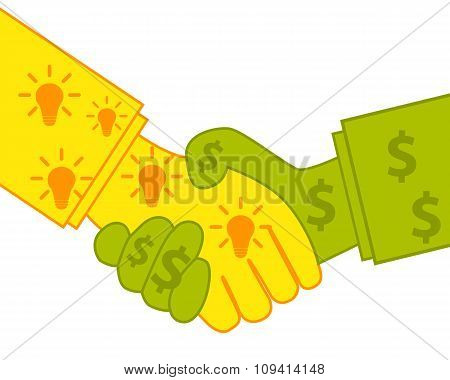 Selling ideas. Good deal. Business concept. Vector illustration