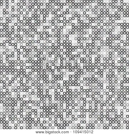 Square pixel mosaic background
