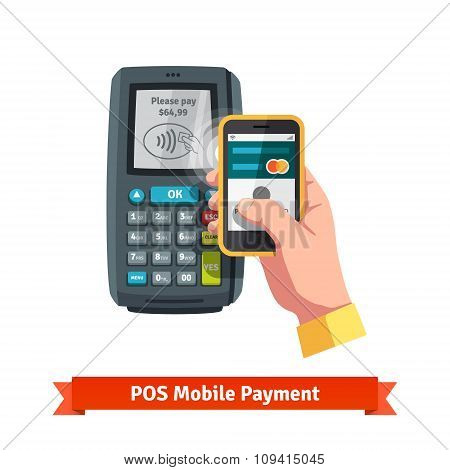 Mobile payment trough POS