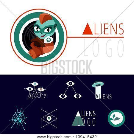 many logos UFO aliens