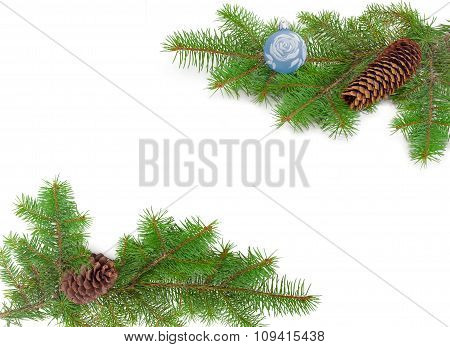 Frame Of Two Fir Branches