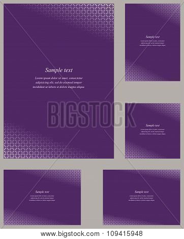 Orchid page corner design template set