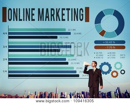 Online Marketing E-commerce Business Concept