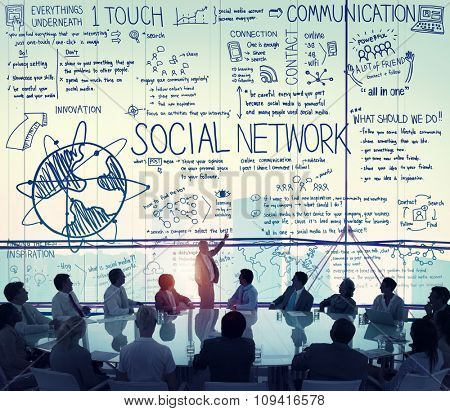 Social Network Media Technology Board Concept