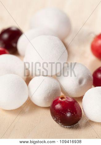 Cranberry In A Sugar Powder