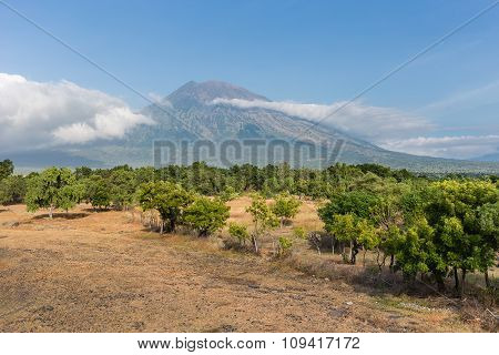 View Of Agung Volcano, Bali, Indonesia