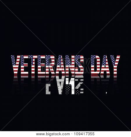 Veterans day of american flag, vector illustration