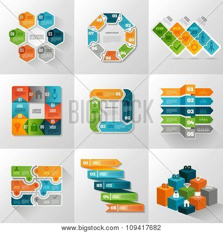 Infographic Templates Icons Set