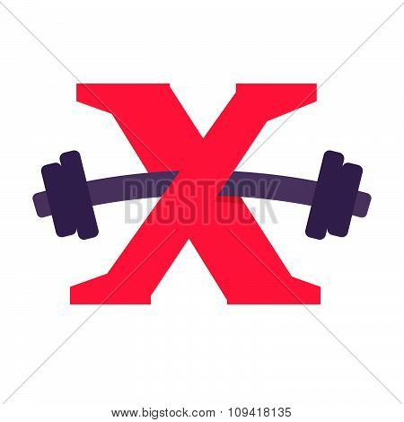 X Letter With Barbell.
