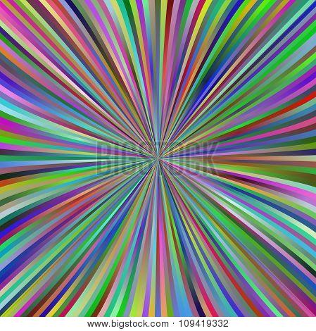Multicolor gradient ray burst background design