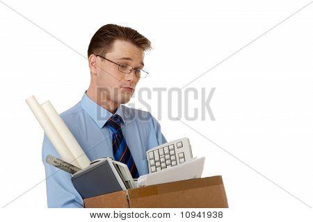 Pensive Employee