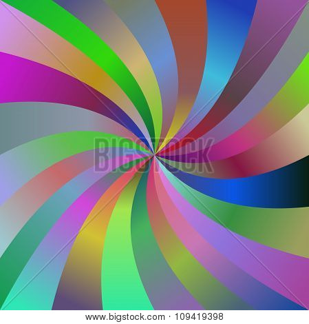 Abstract colorful spiral ray design background