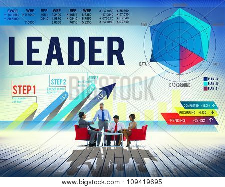 Lead Leader Leadership Business Management Concept