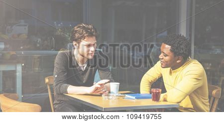 People Talking Discussion Friends Togetherness Concept