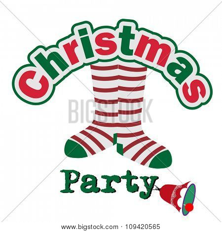 Goofy Christmas Party Invitation - with bell on