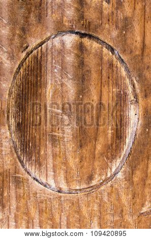 oval wooden signbord