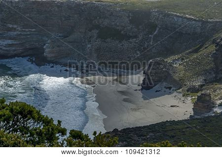 Scenic view to diaz beach of Cape of good hope