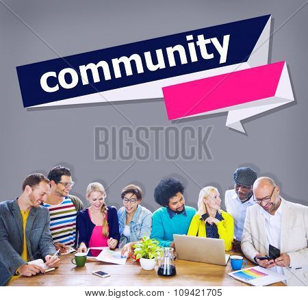 Community Citizen Connection Group Network Concept