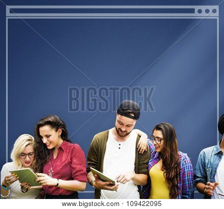 Diverse People Happiness Friendship Interface Copy Space Concept