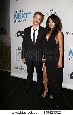 LOS ANGELES - OCT 30:  Ryan Dorsey, Naya Rivera at the 2nd Annual UNICEF Masquerade Ball at the Hollywood Forever on October 30, 2014 in Los Angeles, CA