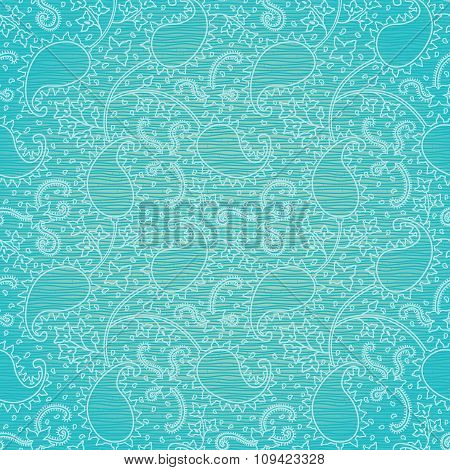Ornate Floral Seamless Texture In Eastern Style.