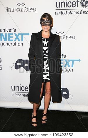 LOS ANGELES - OCT 30:  Nikki Reed at the 2nd Annual UNICEF Masquerade Ball at the Hollywood Forever on October 30, 2014 in Los Angeles, CA