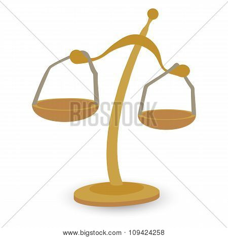 Scales gold cartoon illustration