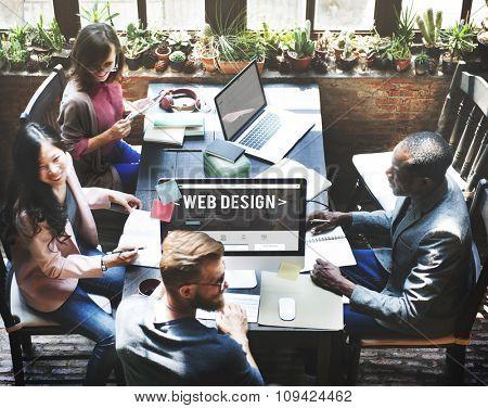 Web Design Computer Content Creative Ideas Concept