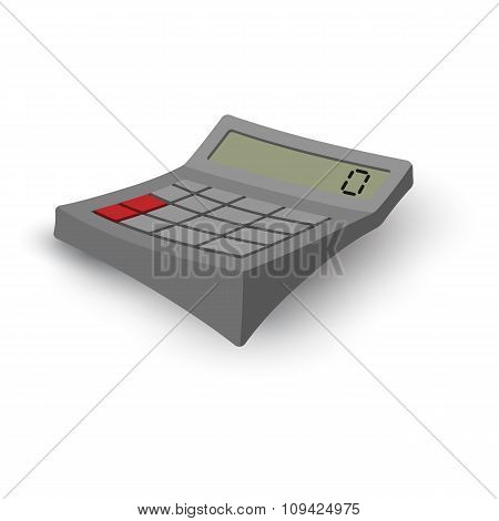 Calculator cartoon grey illustration