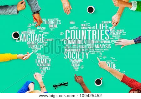 People Brainstorm Design Diverse Countries Global Connection Concept