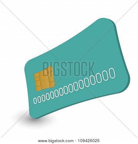 Cash card cartoon illustration