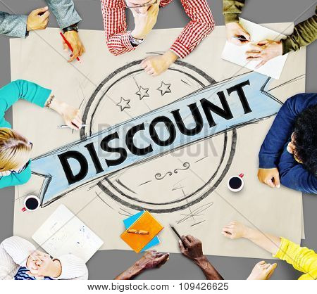 Discount Sale Promotion Cheap Price Final Rate Products Shopping Store Outlet Concept