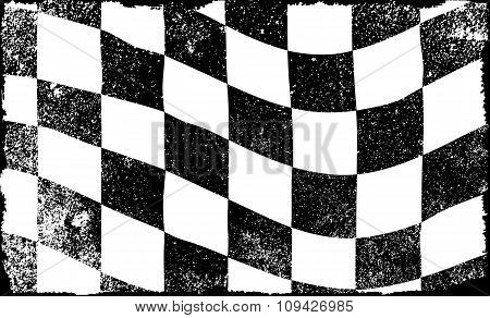 Grunged Chequered Flag