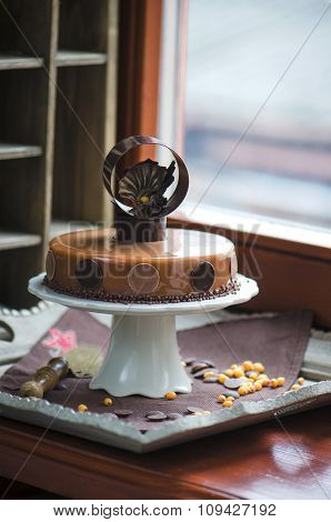 Seabuckthorn lime cake