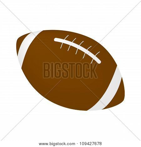 Rugby ball isometric 3d icon