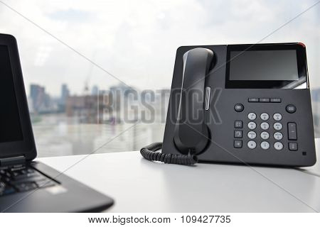 Laptop And IP Phone