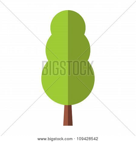 Tree flat symbol