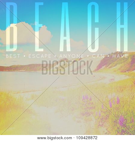 Inspirational Typographic Quote - Beach