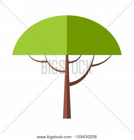 New tree flat symbol