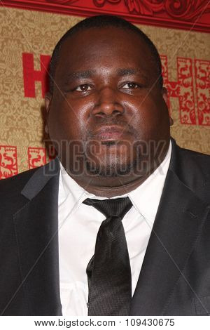 LOS ANGELES - JAN 12:  Quinton Aaron at the HBO 2014 Golden Globe Party at the Beverly Hilton Hotel on January 12, 2014 in Beverly Hills, CA