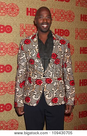 LOS ANGELES - JAN 12:  Ntare Mwine at the HBO 2014 Golden Globe Party at the Beverly Hilton Hotel on January 12, 2014 in Beverly Hills, CA