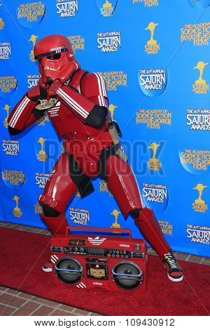 LOS ANGELES - JUN 25:  Billy Stryder, Cosplayer, Hip Hop Trooper at the 41st Annual Saturn Awards Arrivals at the The Castaways on June 25, 2015 in Burbank, CA